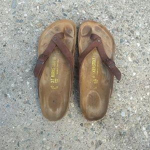 d96d2b79b36b Birkenstock Shoes - Birkenstocks rare Adria thong sandal in size 37